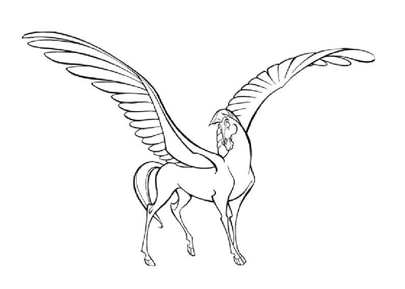 Pegasus Coloring Page