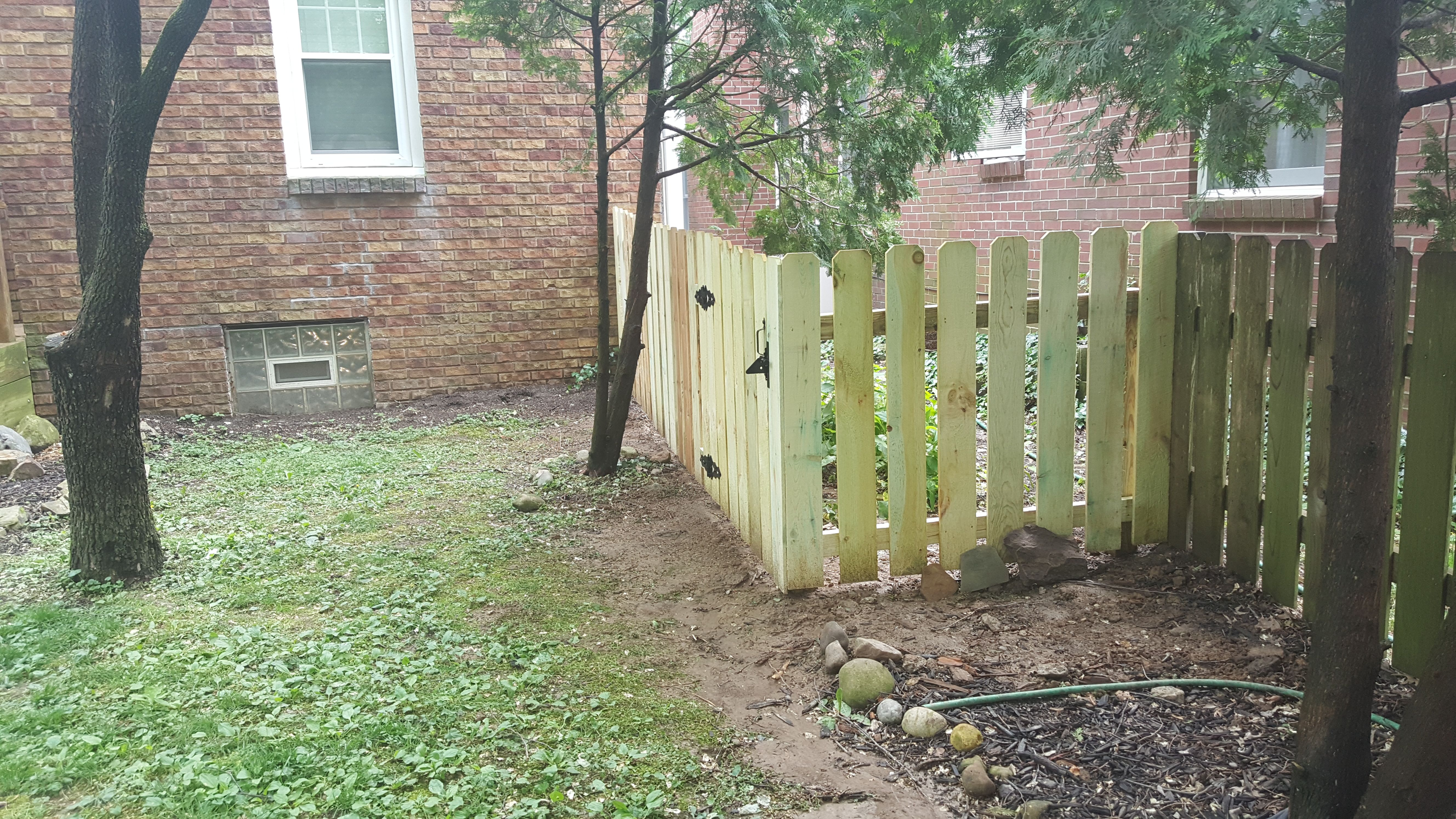 4 Ft Tall Dog Ear Pine Spaced Fence Dogearfence Picketfence Fence Styles Dog Ear Fence Wood Fence