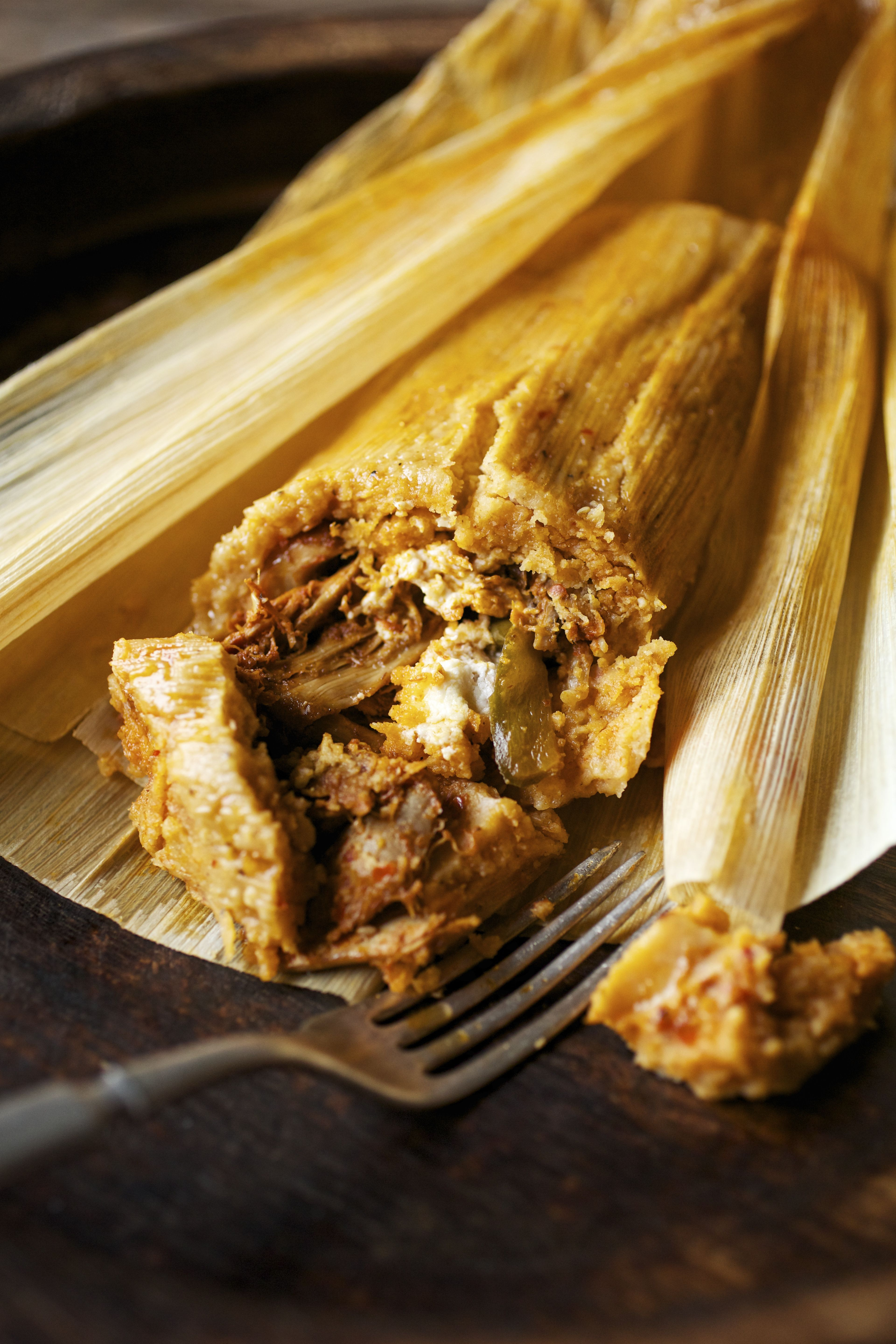Borracho. This giant tamale that is almost a pound in