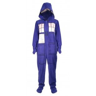 eb98e41a7e Doctor Who  TARDIS Adult Onesie with Removable Feet It doesn t get ...