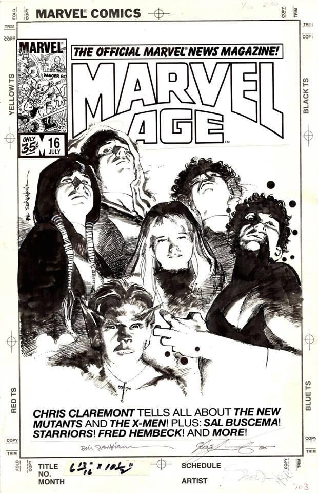 1984 - Anatomy of a Cover - Marvel Age #16 by Bill Sienkiewicz ...