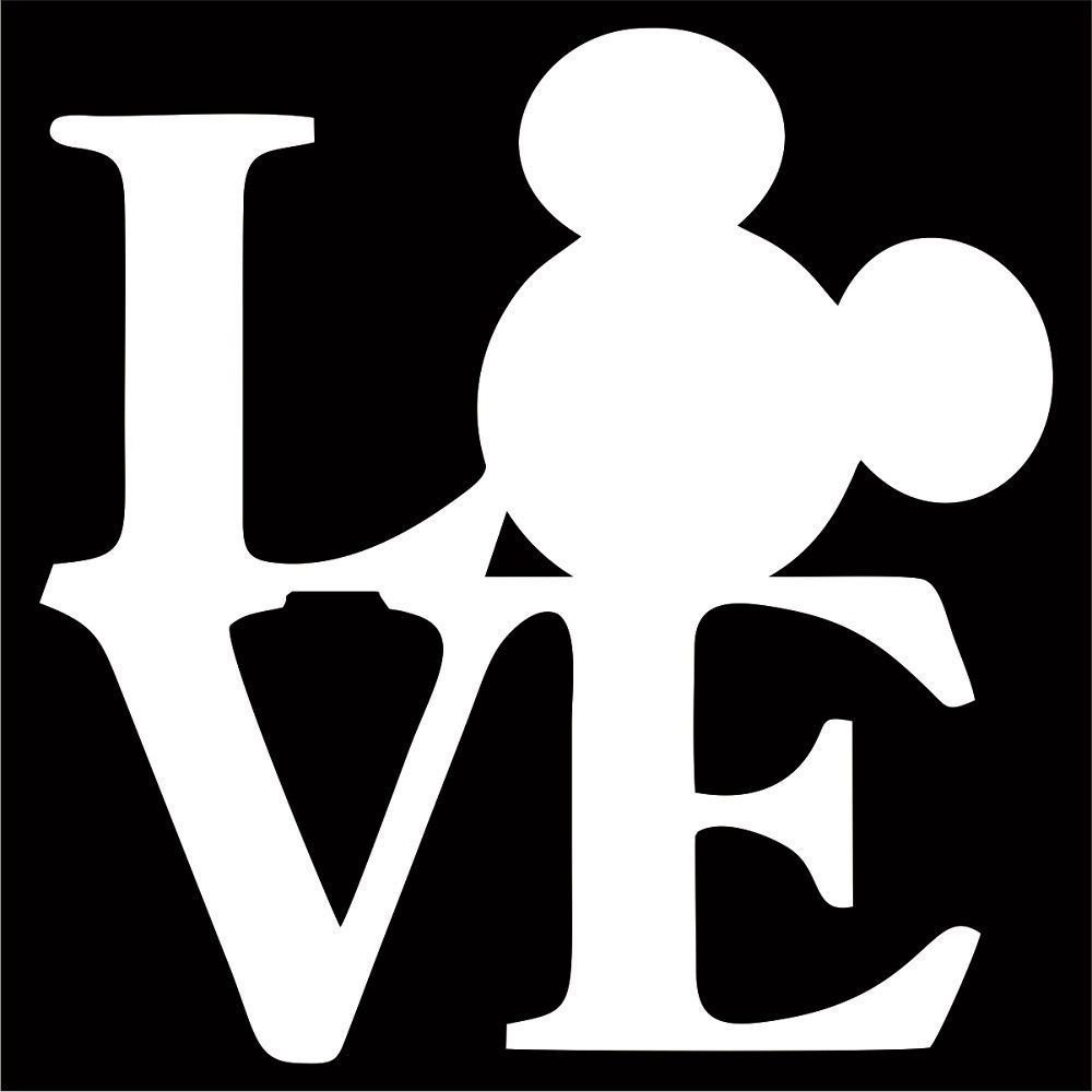 Download Love With Minnie Head Svg - Layered SVG Cut File