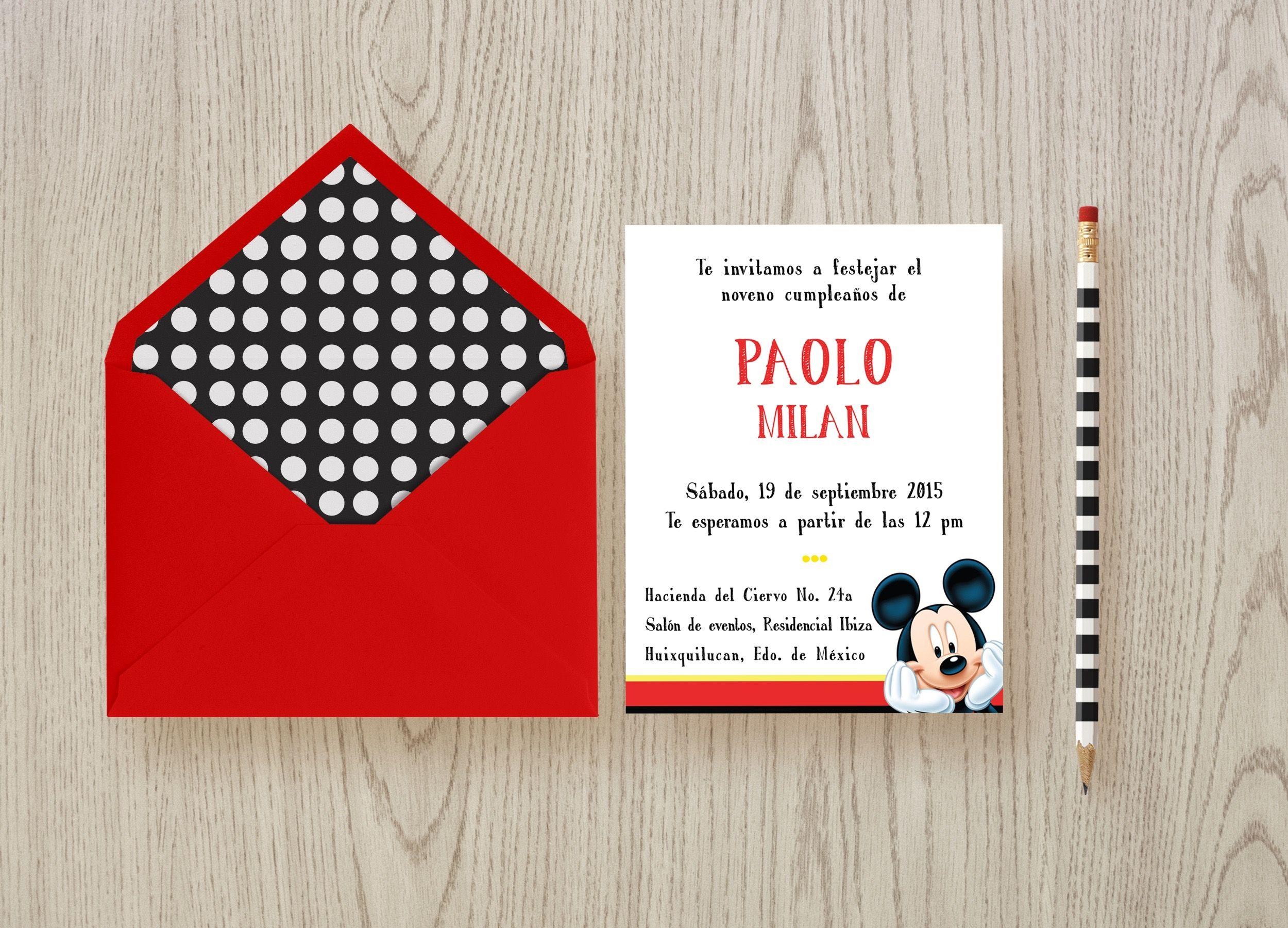 Mickey mouse birthday invitation mockup by paulette puerner mickey mouse birthday invitation mockup by paulette puerner stopboris Choice Image