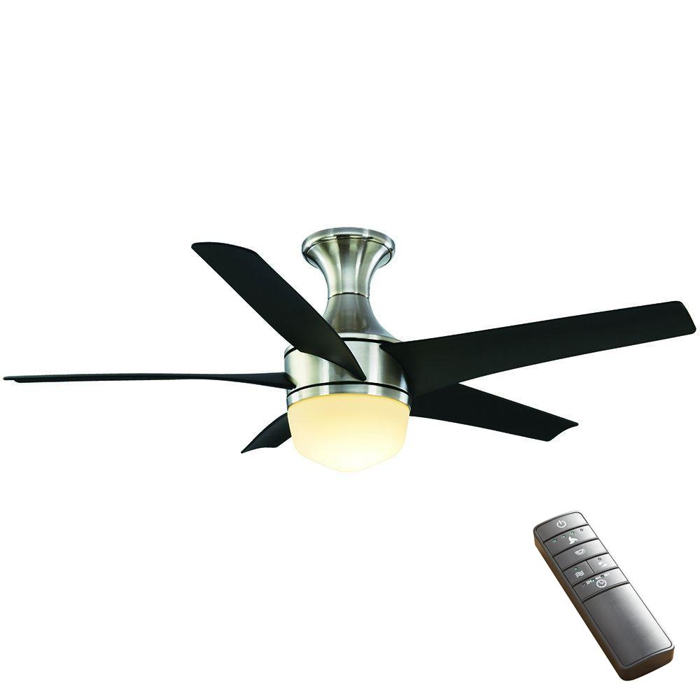 Home Decorators Collection Daylesford 52 in LED Indoor Nickel Ceiling Fan with