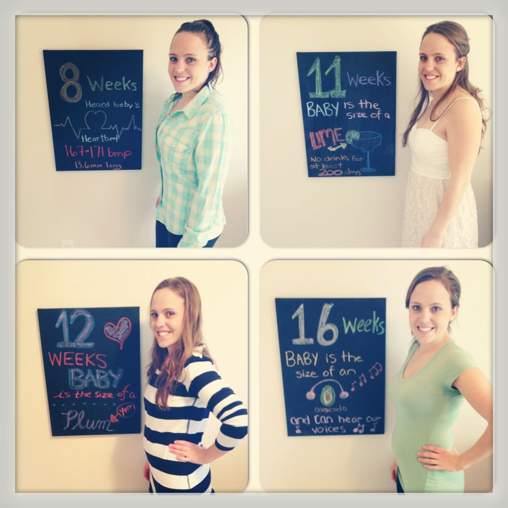 Pregnancy Chalkboard... 8,11,12 and 16 weeks!