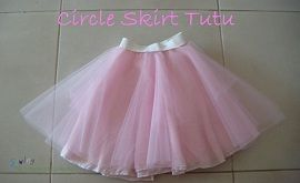 Circle skirt tutu.It would be kind of fun to make it in an adult size...