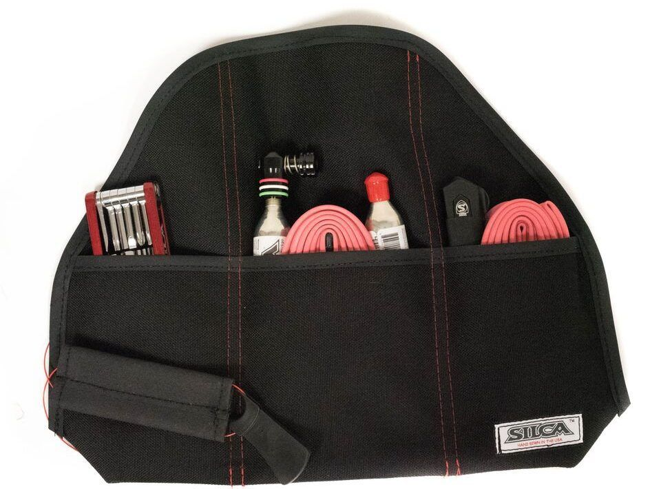 Silca Rolls Out Seat Roll Grande Americano Saddle Storage Fits Two Tubes And More Road Bike Accessories Road Bike Gear Bike Style