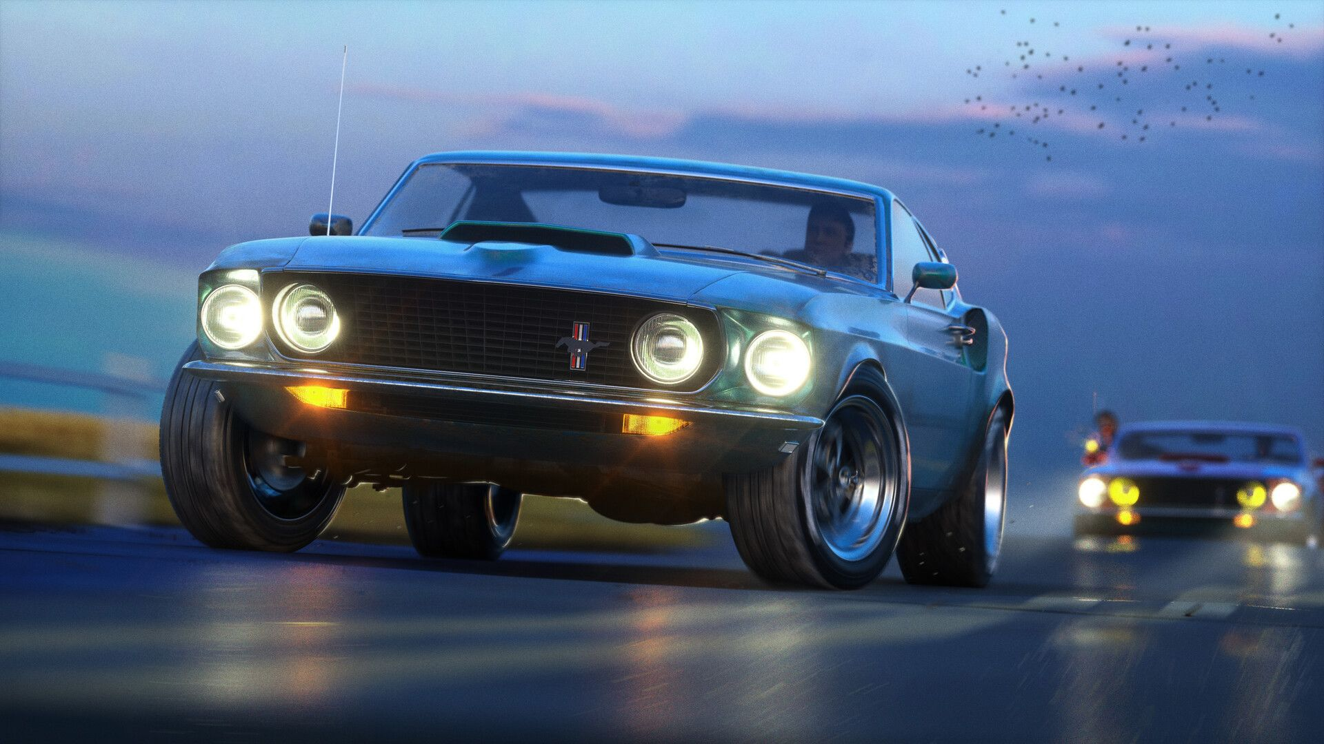 Mustang Chase By Serj Rumimy Personal Project Inspired With