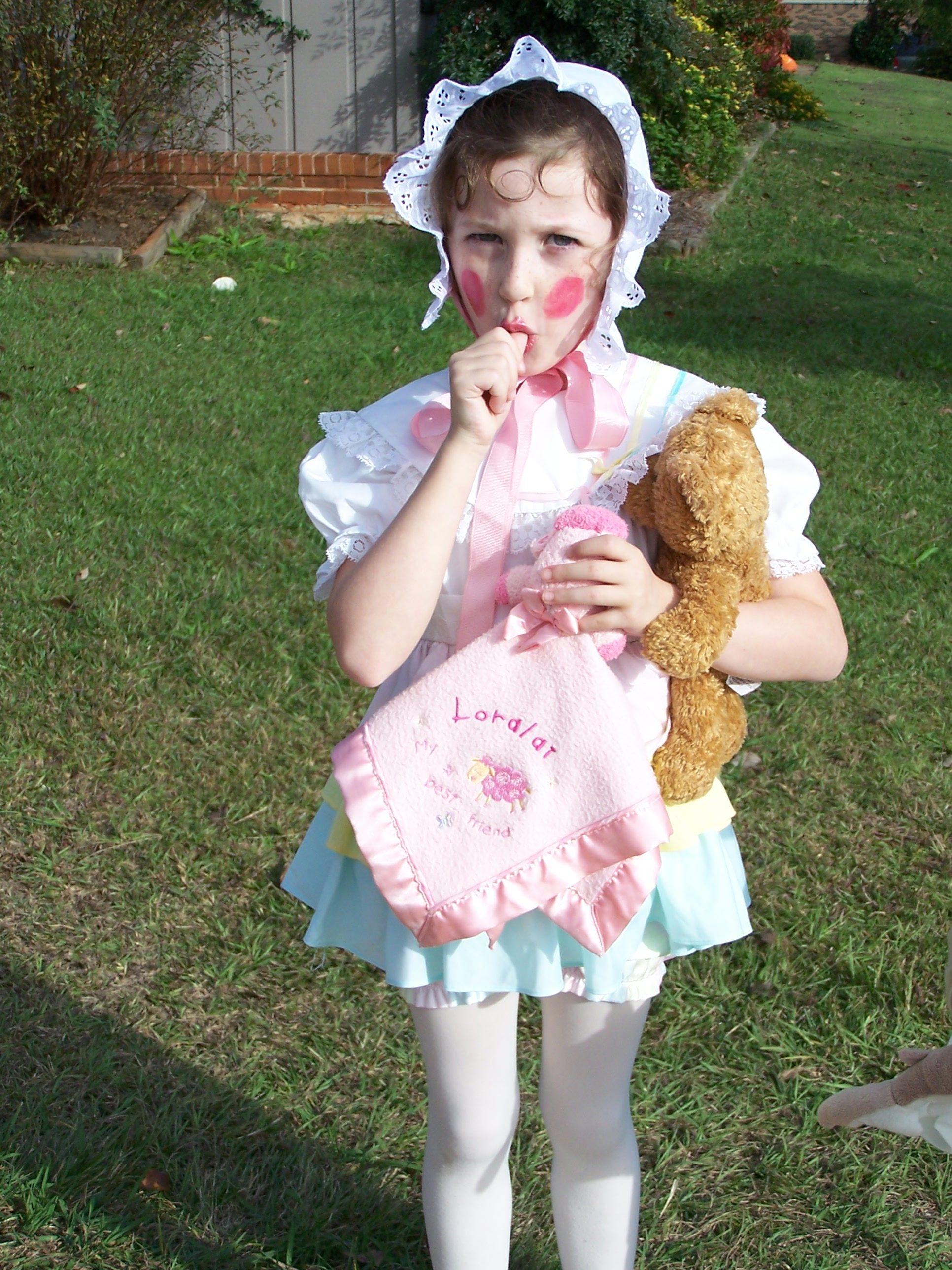 Baby doll easy halloween costume diy halloween costumes pinterest baby doll easy halloween costume solutioingenieria Images