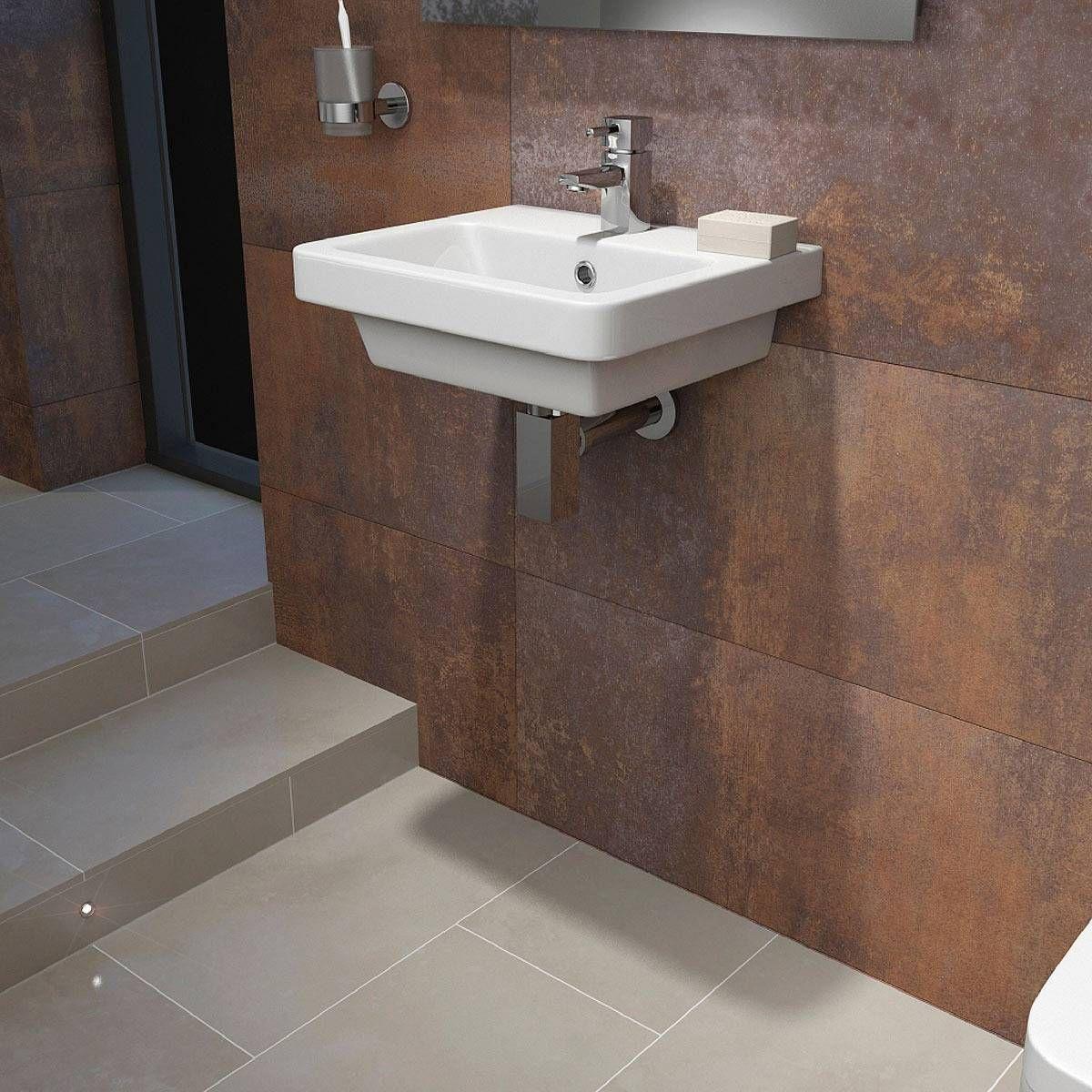 verso 1th 400mm wall hung basin victoria plumb - Bathroom Accessories Victoria Plumb