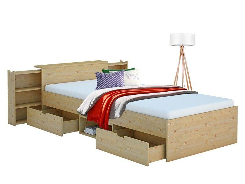 Funktionsbett Jolynn 90x200 Cm Mit Regal Aus Kiefer Toddler Bed