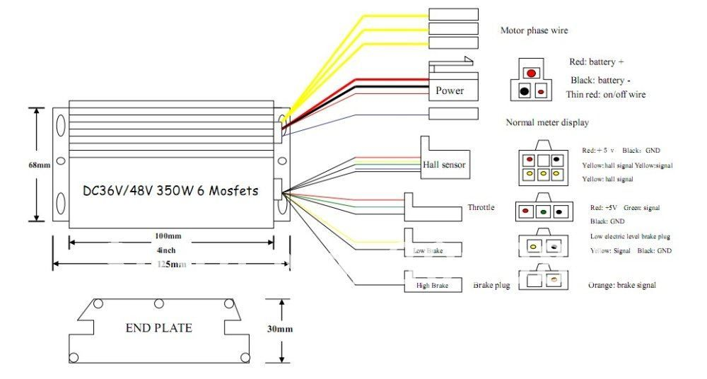 Electric bike controller wiring diagram in addition motor wire connectors additionally bicycle razor together with bafang also rh pinterest