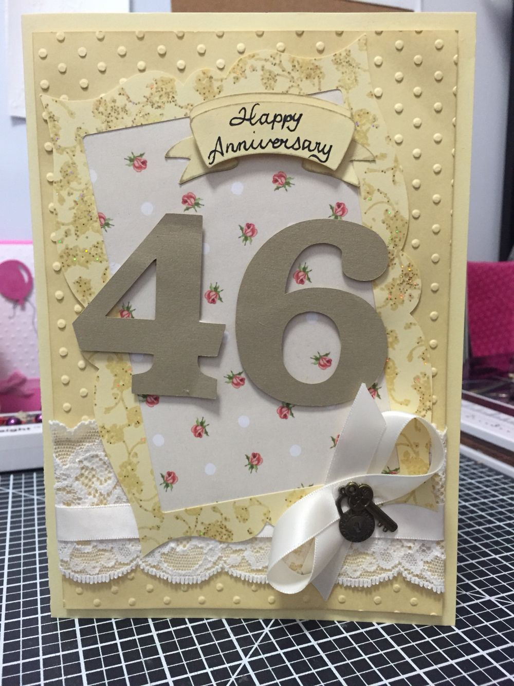46th wedding anniversary card  wedding anniversary cards