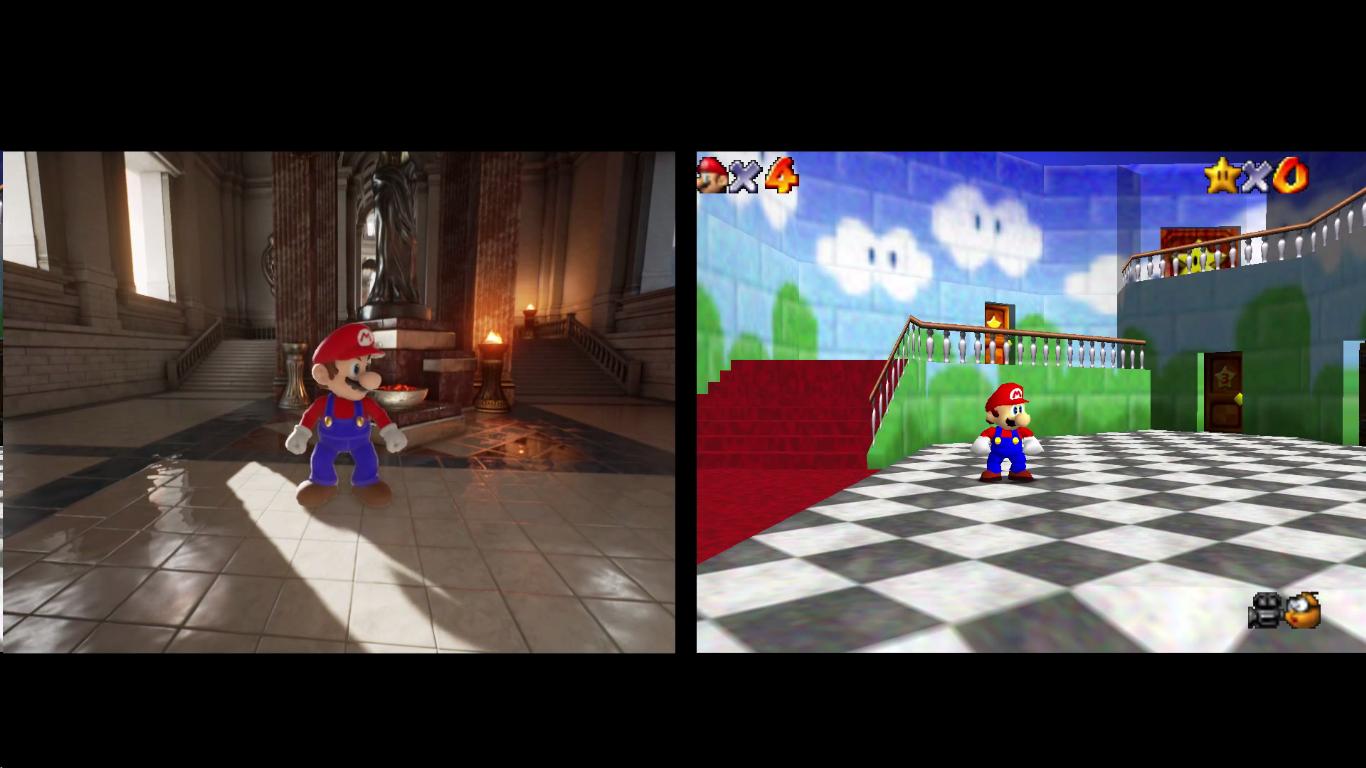 Mario 64 + Unreal