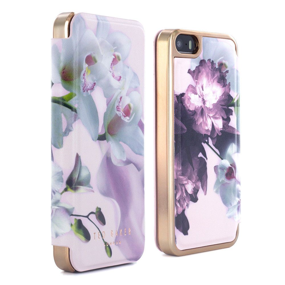 f5c10443a Official Ted Baker Ss16 Mariel Mirror Folio Nude Case Cover For Iphone 5 5S   Se