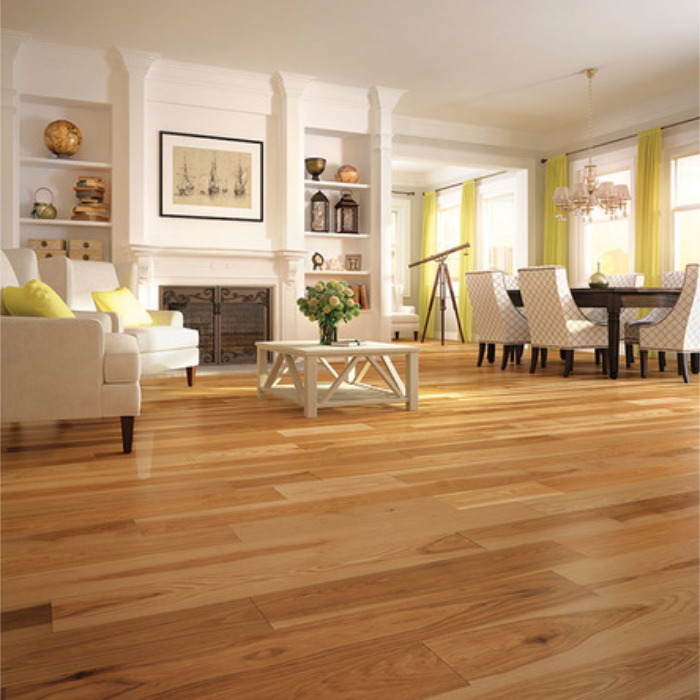 """The Mercier Country 3/4"""" Hickory Natural solid hardwood"""