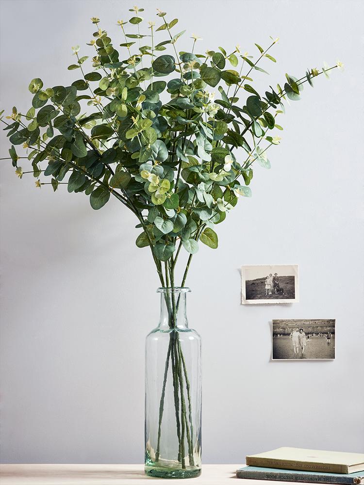 New Six Faux Eucalyptus Stems Fake Plants Decor Artificial Plants Decor Faux Flower Arrangements