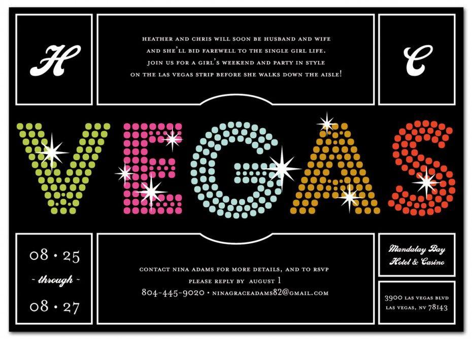 Las Vegas Bachelorette Party Invitation Bachelorette Party In Las Vegas Bachelorette Party Invitations Vegas Bachelorette Party Las Vegas Bachelorette Party