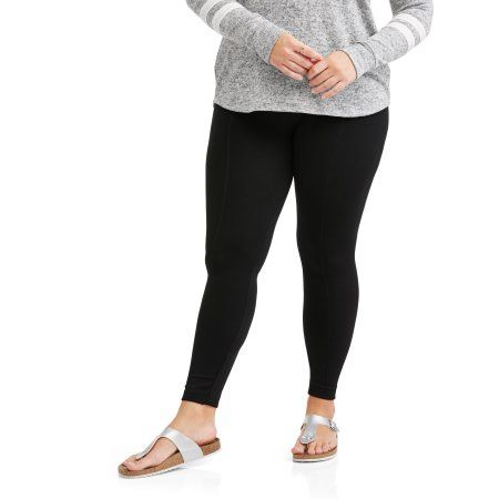 103533e55fb Plus Size Poof Juniors  Plus Textured Fleece Lined Leggings With Slimming  Front Seam