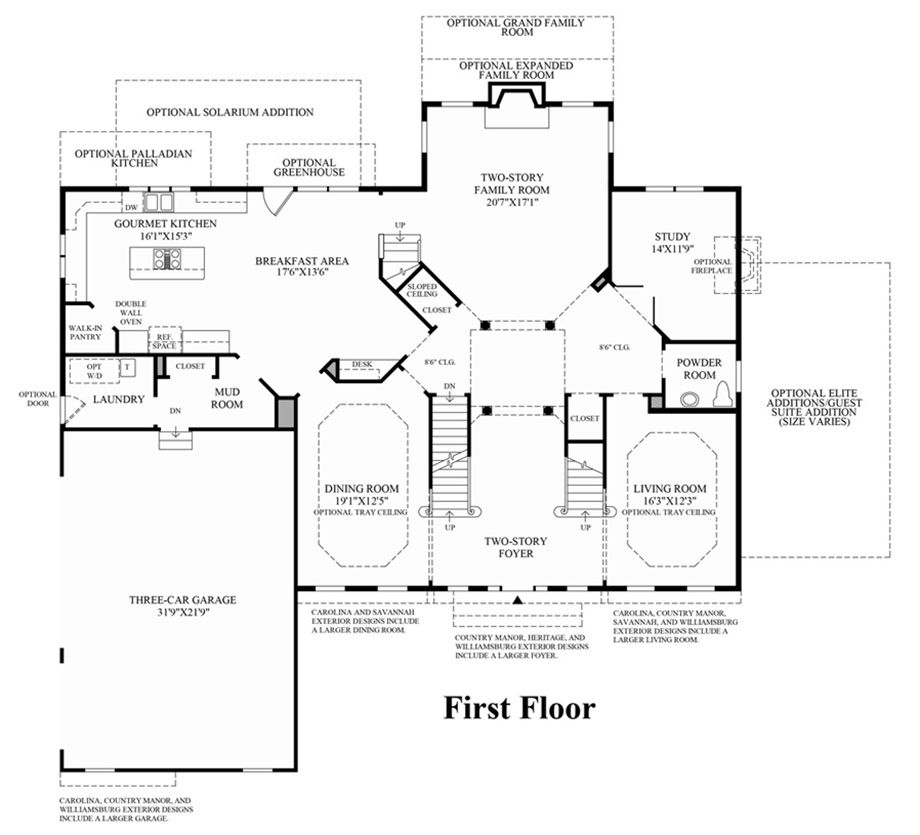 toll brothers - harding 1st floor | house ideas - floor plans
