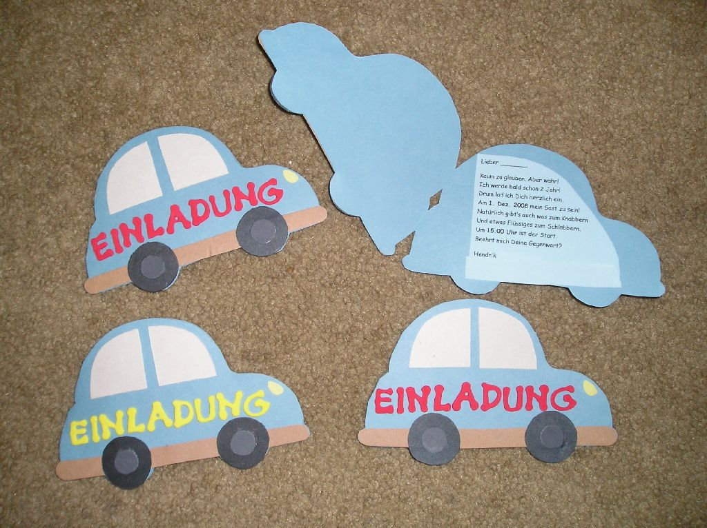 einladungskarte basteln kindergeburtstag – needyounow, Einladungskarten