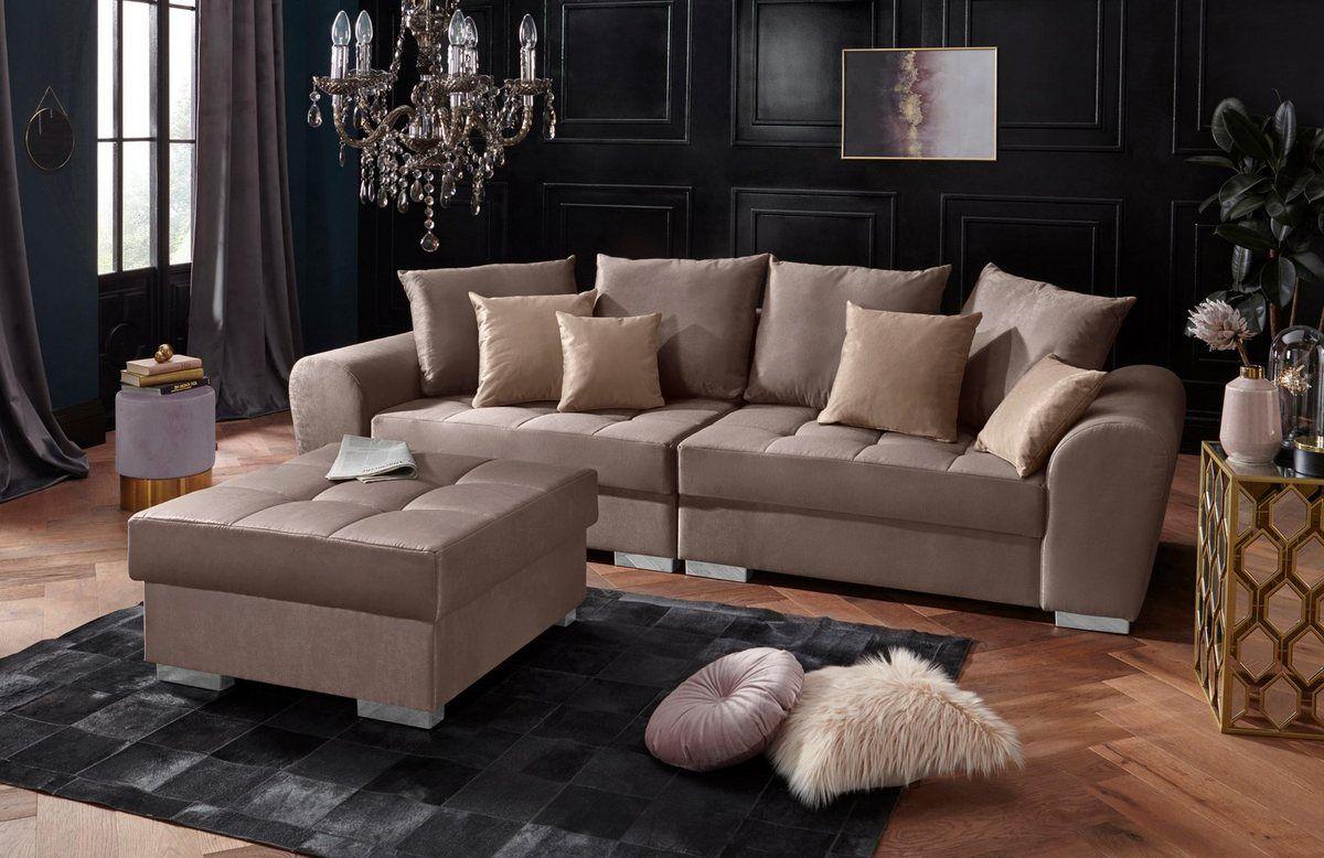 Leonique Big Sofa Vigo Inklusive Komfortablen Federkerns Online Kaufen Grosse Sofas Wohnen Und Sofa