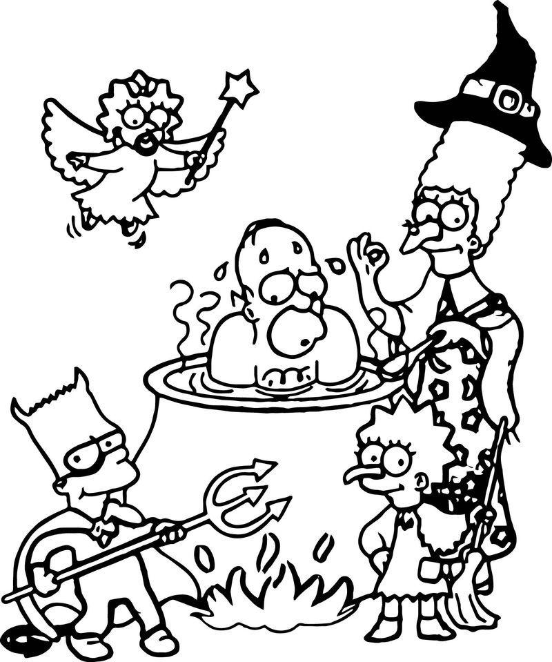 Skateboard Simpsons Drawings Cartoon Coloring Pages Simpsons Art