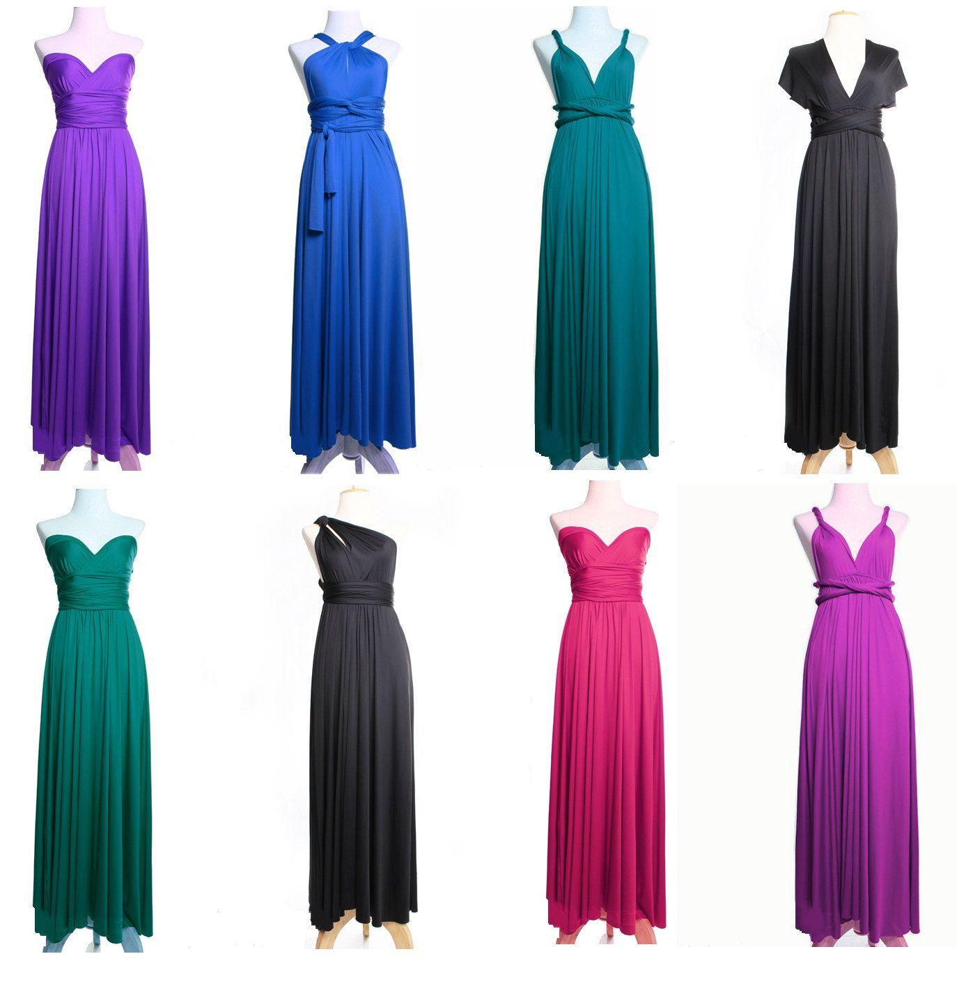 Great idea for bride's maids! CONVERTIBLE Infinite Infinity Dress for all Occasions. $72.00, via Etsy.