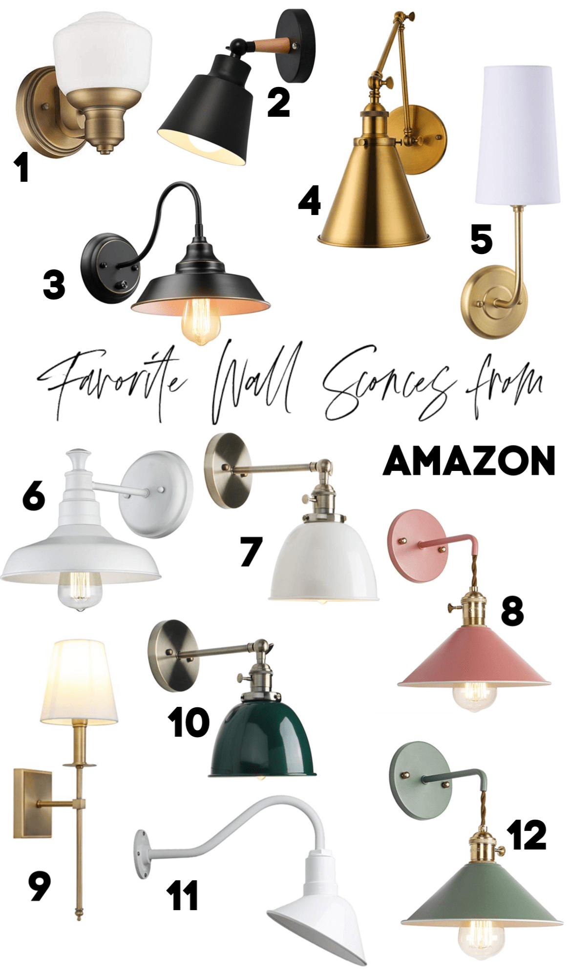 Favorite Wall Sconces From Amazon And Magic Light Trick Round Up Nesting With Grace Wall Sconces Bedroom Farmhouse Wall Lighting Magic Light Trick What is a wall sconce