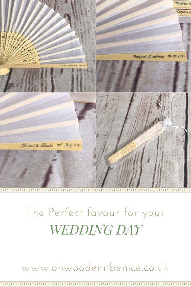 200 pack Personalised wedding favours; personalised wedding fan ...