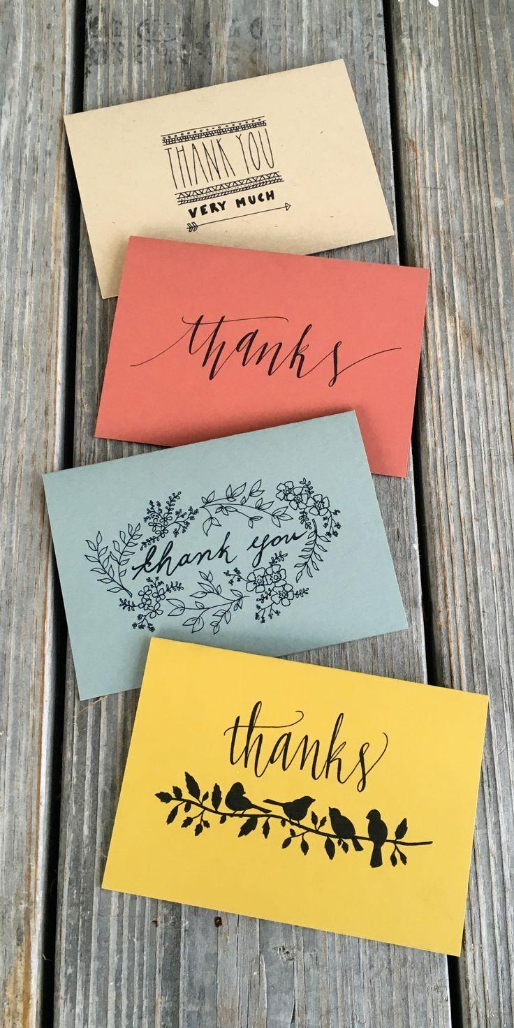 Colourful wedding thank you cards decoraciones para
