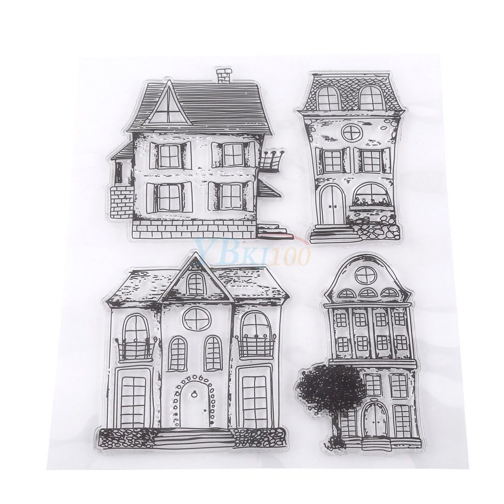 Transparent Silicone Clear Stamp DIY Cling Scrapbook Seal Embossing Album Decor