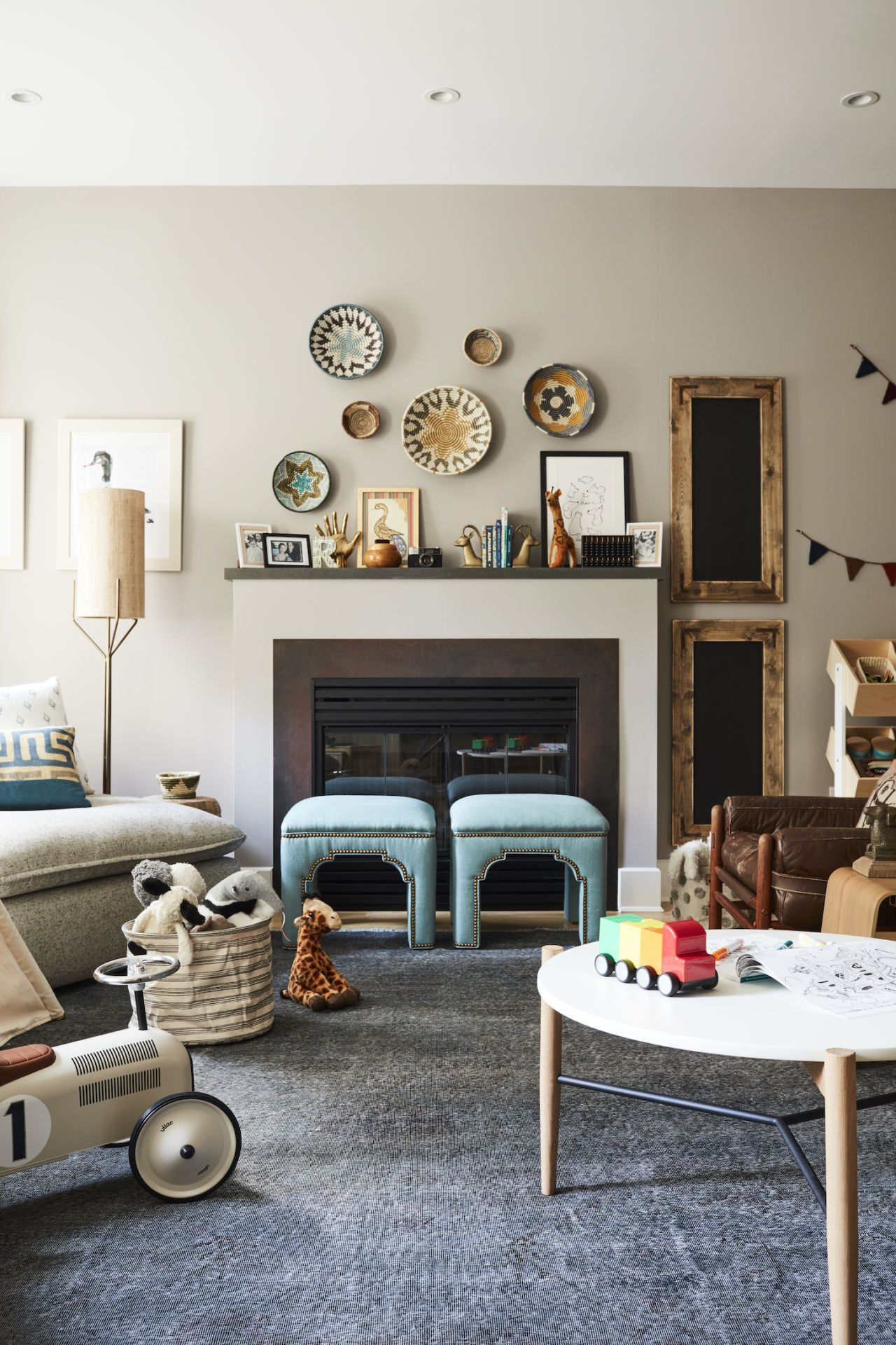 Lucy Liu's Playroom Is Fun Enough for Kids And Stylish ... on Fun Living Room Ideas  id=31821