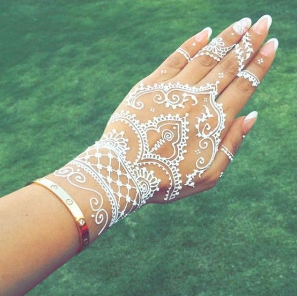 A French Inspired Mani For Your Wedding Day Wedding Ideas Henna