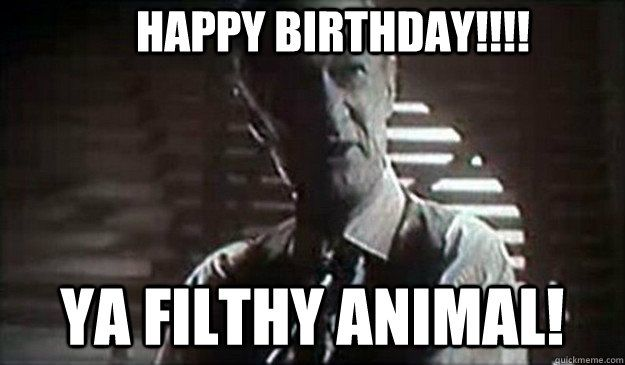 Merry Christmas You Filthy Animal Gif.Happy Birthday Ya Filthy Animal Home Alone
