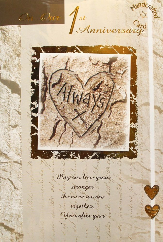 On our 1st anniversary greeting card envelope hearts theme brand on our 1st anniversary greeting card envelope hearts theme brand new m4hsunfo