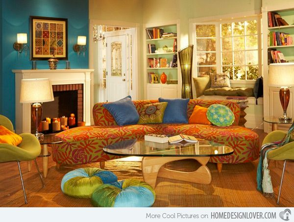 15 Bohemian Inspired Living Rooms