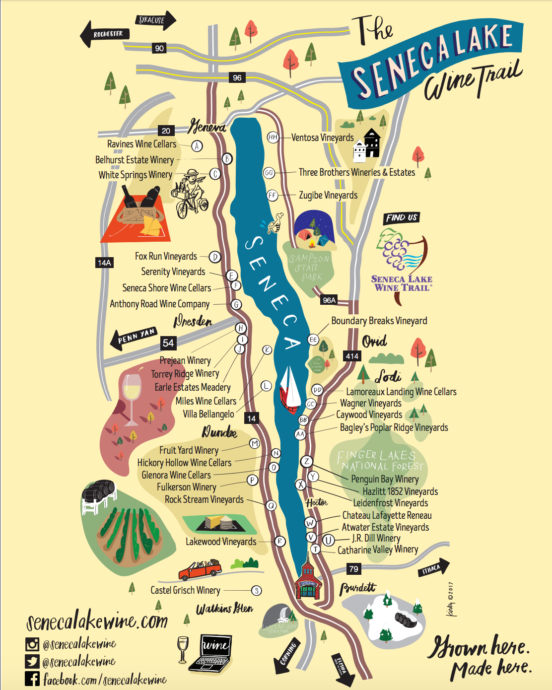 finger lakes wine map Wine Tours Rochester Limo Bus Wine Tours And Winery Tours finger lakes wine map