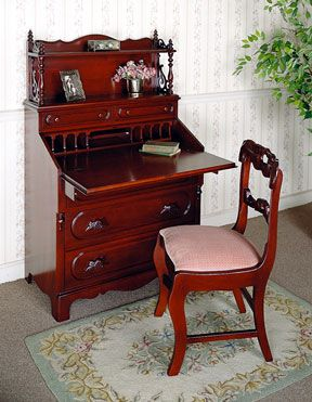 The David Cabinet Company Lillian Russell Secretary Desk My Grandparents  Gave Me