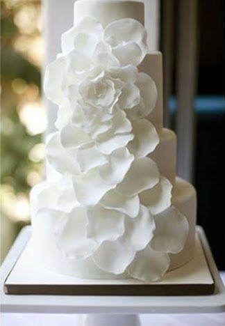 Love the petal cake design