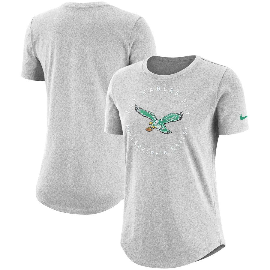 promo code 174f9 69195 Philadelphia Eagles Nike Women's Seal T-Shirt - Gray ...