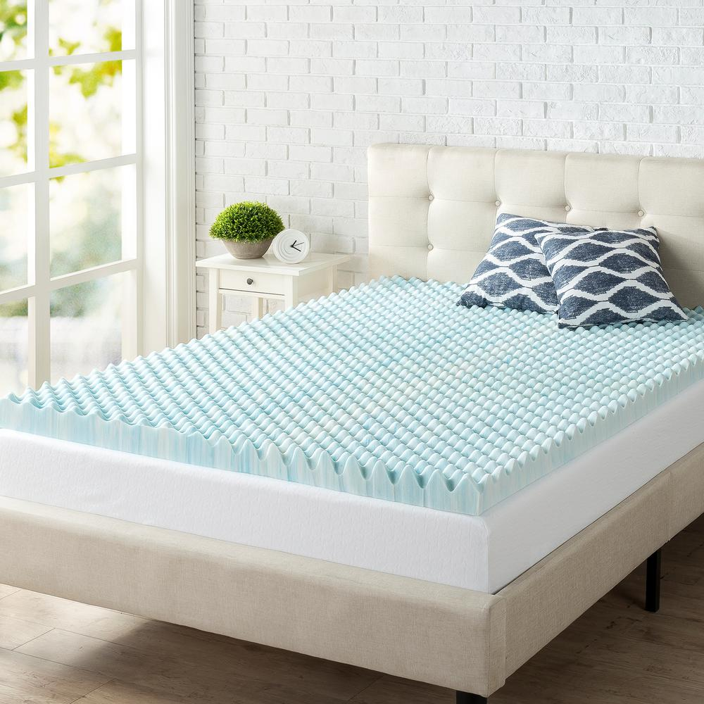 Zinus 3 In Full Gel Memory Foam Mattress Topper Hd Swft 300f In