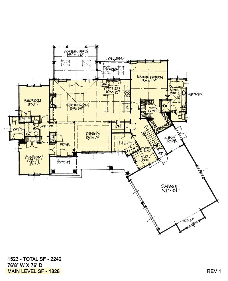 House Plan 1523 Rustic Two Story Garage House Plans Dream House Plans New House Plans