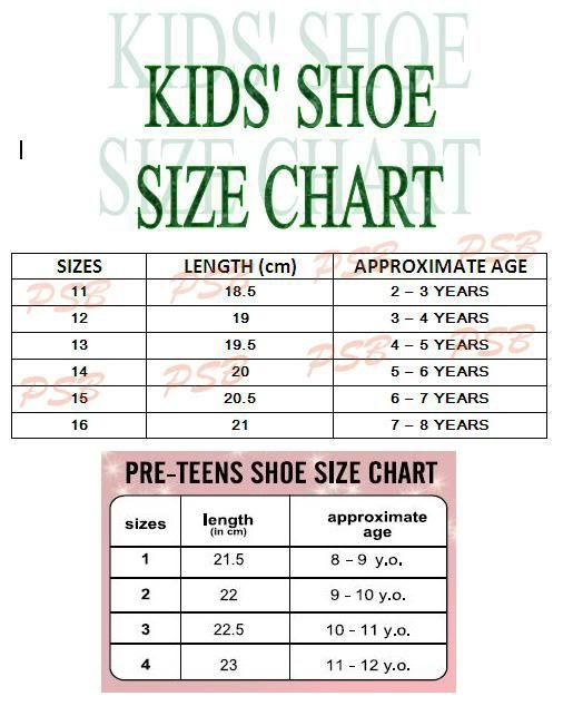 Average Shoe Size For  Year Old Toddler