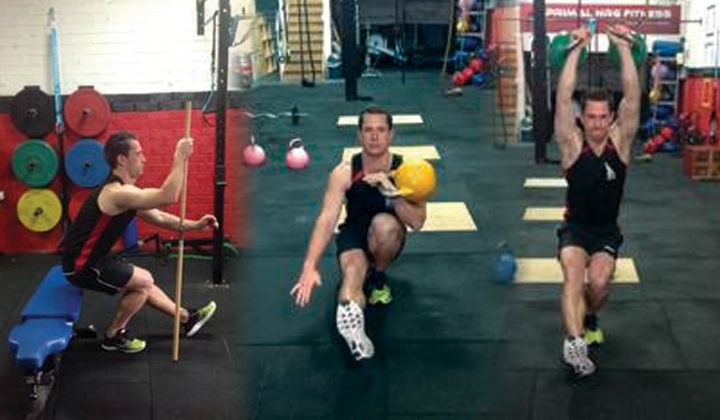 Kettlebell Pistol Squat Exercise Progressions Assisted To