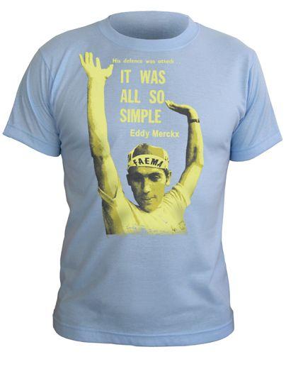 b361f20b0 Eddy Merckx (His Defence was Attack) T-Shirt - Sky Blue