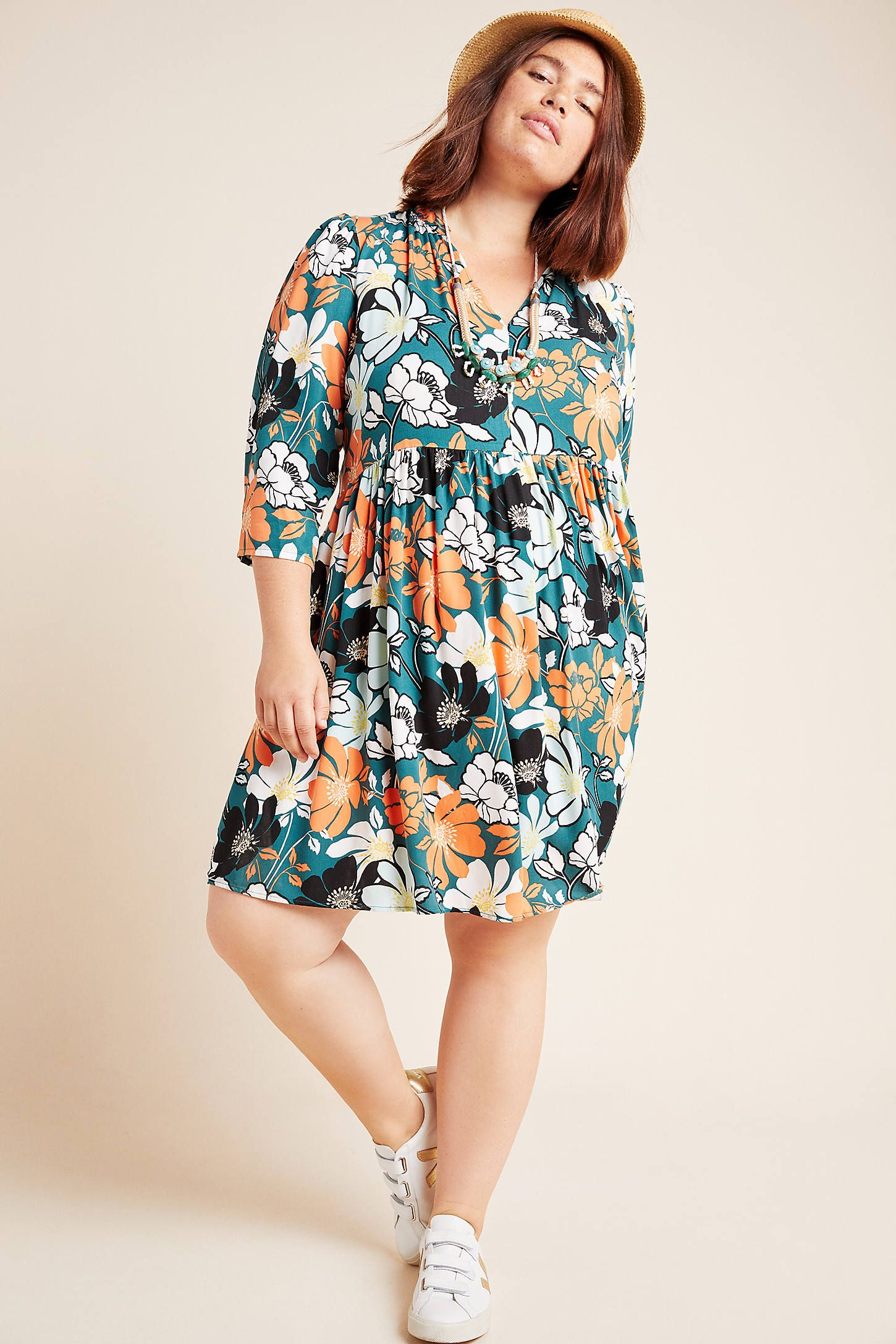Juno Printed Dress by Maeve in Blue Size: Xs, Women's Dresses at Anthropologie