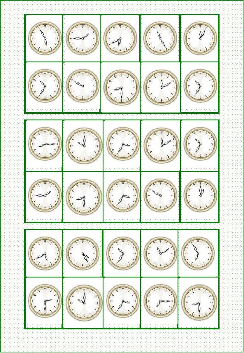 Bingo Qué Hora Es Inglés Las Horas En Ingles Bingo Y