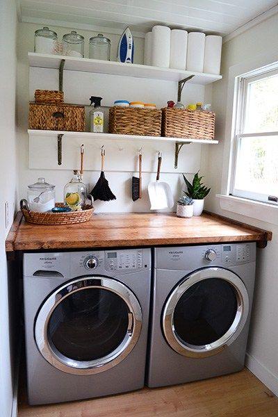 Tiny Laundry Room Inspiration Laundry Room Diy Tiny Laundry