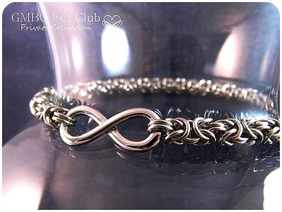 Steel Infinity Chainmaille Day Collar  by GOTMaillebyChristy, $110.00